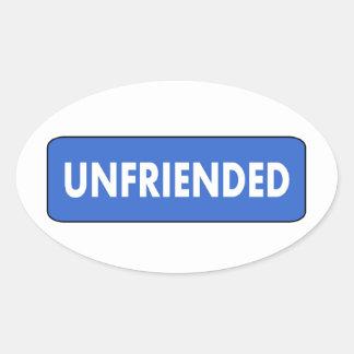 Unfriended Ovaler Aufkleber