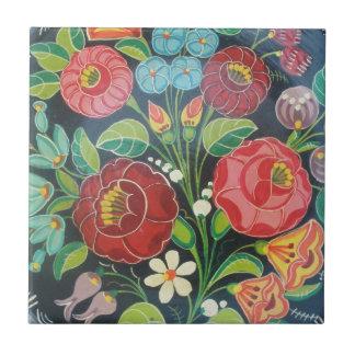 Ungarisches Blumen Kleine Quadratische Fliese