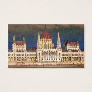 Ungarisches Parlaments-Gebäude in Budapest, Ungarn Visitenkarte