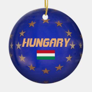Ungarn EU kennzeichnen Weihnachtsverzierung Rundes Keramik Ornament
