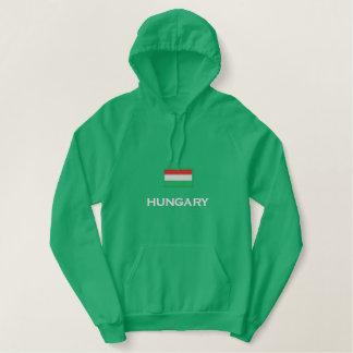 Ungarn-Flagge Bestickter Hoodie