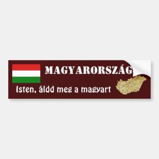 Ungarn-Flagge + Karten-Autoaufkleber Autoaufkleber