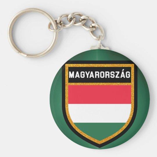 Ungarn-Flagge Standard Runder Schlüsselanhänger