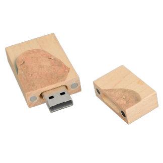 Ungeschälte rohe Kartoffel Holz USB Stick 2.0
