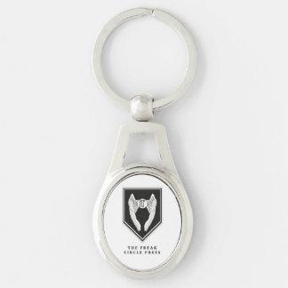 Ungewöhnliche Kreis-Presse-Schlüsselring Schlüsselanhänger