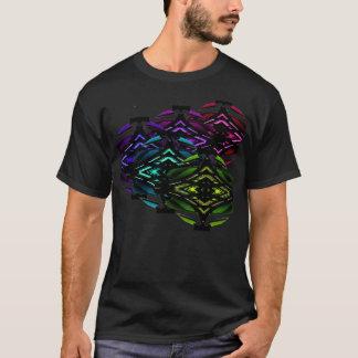 Ungewöhnliches Spektrumgeometrisches städtisches T-Shirt