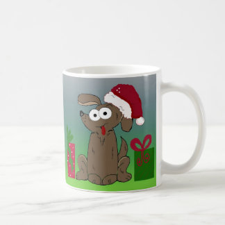 Unglaublich witzig Cartoon-Weihnachtshund Tasse