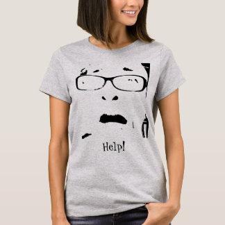 Unglaublich witzig erschrockene Dame Wearing T-Shirt