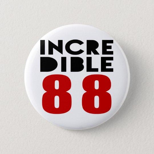 Unglaubliche 88 Geburtstags-Entwürfe Runder Button 5,1 Cm