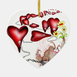 unglücklich in der Liebe, tony fernandes Keramik Herz-Ornament