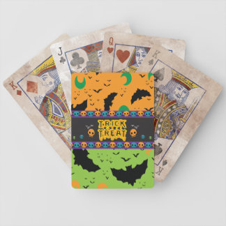 Unheimliche Schläger und Mond-orange grüne Bicycle Spielkarten