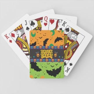Unheimliche Schläger und Mond-orange grüne Spielkarten