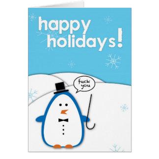 Unhöflicher Pinguin: F*ck Sie Karte