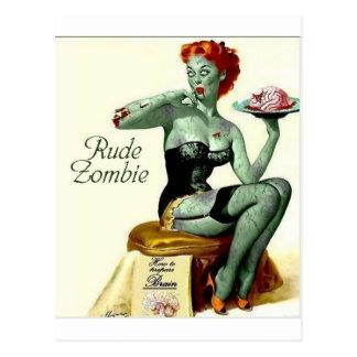 """Unhöflicher Zombie """"der erste Biss """" Postkarte"""