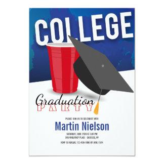Uni-graduierte Einladung