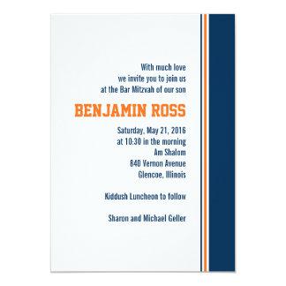 Uni-Streifen-Bar Mitzvah Einladung