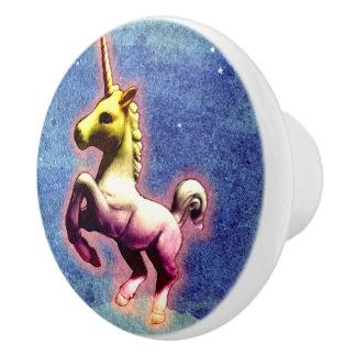Unicorn-Fach-Griff-Zug-Keramik (Galaxie-Schimmer) Keramikknauf