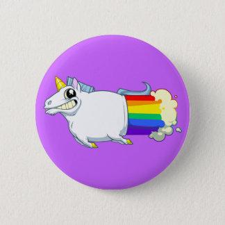 Unicorn-Furz-Knopf Runder Button 5,1 Cm