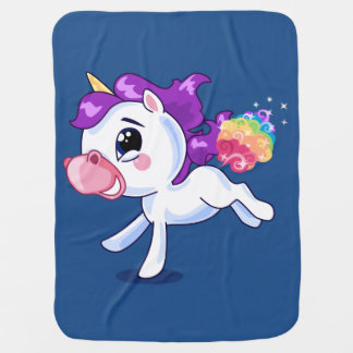 Unicorn-Furzen Baby-Decke