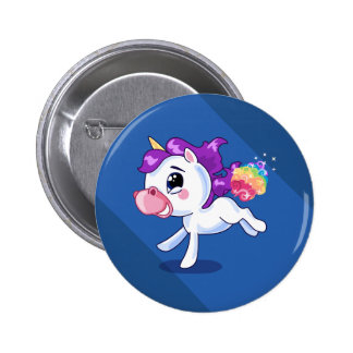 Unicorn-Furzen Runder Button 5,1 Cm