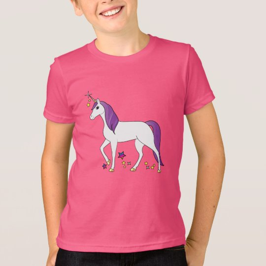 Unicorn mit der lila Mähne T-Shirt