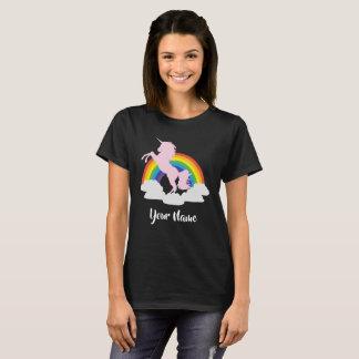 Unicorn-Regenbogen-Fantasie personalisiert T-Shirt