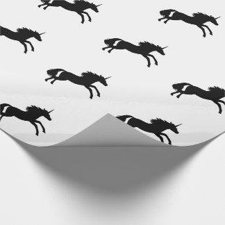 Unicorn-Silhouette-Verpackungs-Papier - Schwarzes Geschenkpapier