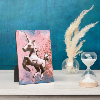 Unicorn-Tischplatte-Plaketten-12x18 (verblaßtes Fotoplatte