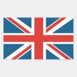 Union Jack Stickers En Rectangle