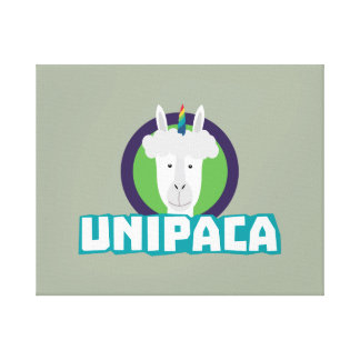 Unipaca Einhorn-Alpaka Z67aj Leinwanddruck