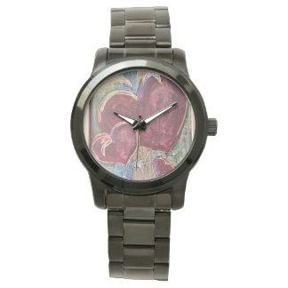 Unisexherz-Zeit-Uhr Uhr