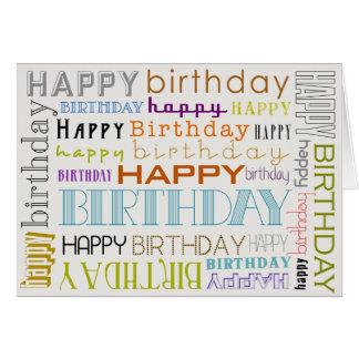 Unisexmehrfarbenalles- Gute zum Geburtstagtext Grußkarte