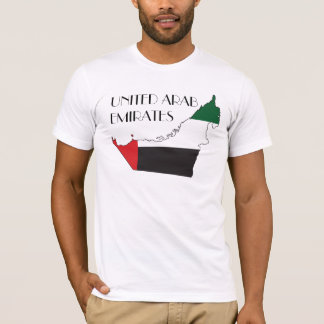 United Arab Emirates Flagge-Karte Shirt