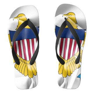 United States Virgin Islands kennzeichnen umdrehen Flip Flops