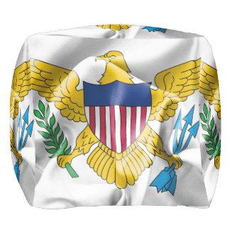 United- States Virgin Islandsflaggen-Puff Kubus Sitzpuff