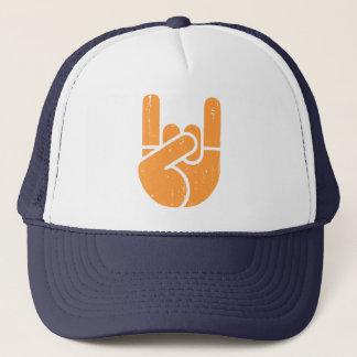 Universelle Felsen-Hand - Orange Truckerkappe