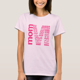 Universelle Mamma in vielen Sprachinitialen-T - T-Shirt
