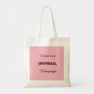 Universelle Sprache Tragetasche