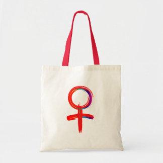 Universelles Symbol für Frau Tragetasche