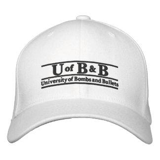 Universität der Bomben u. der Kugeln Bestickte Kappe