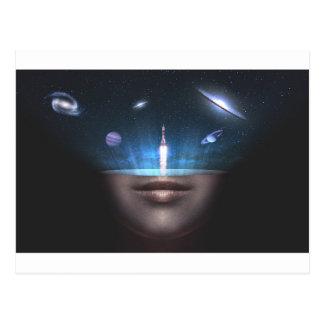 Universum im Verstand Postkarte