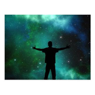 Universum-Postkarte Postkarte