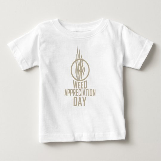 Unkraut-Anerkennungs-Tag Baby T-shirt