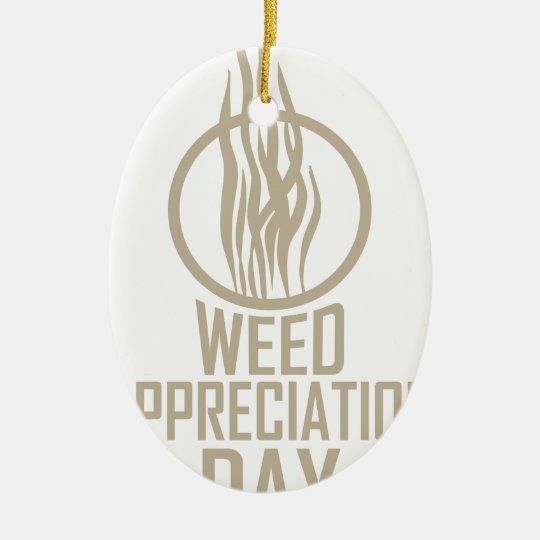 Unkraut-Anerkennungs-Tag Keramik Ornament
