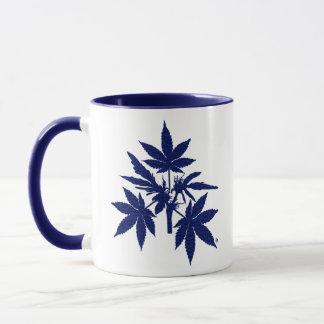 Unkraut-Baum-Blau-Zeichnende Tassen
