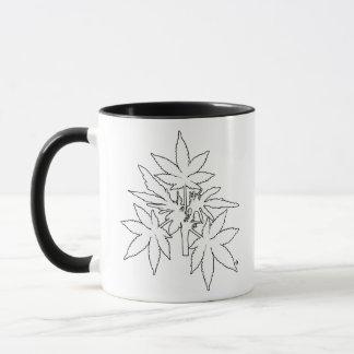 Unkraut-Baum Bubs Weiß-Zeichnende Tassen