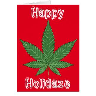 Unkraut-Blatt-Weihnachten glückliches Holidaze Karte
