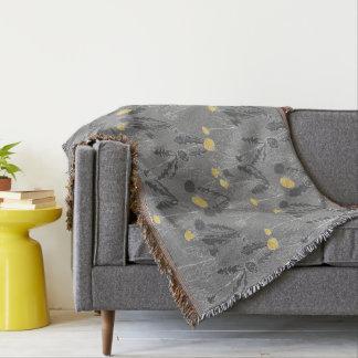 Unkräuter auf Wolle-Wurfsdecke Decke