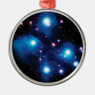 Unordentlicheres 45 Pleiades die Stern-Gruppe Silbernes Ornament