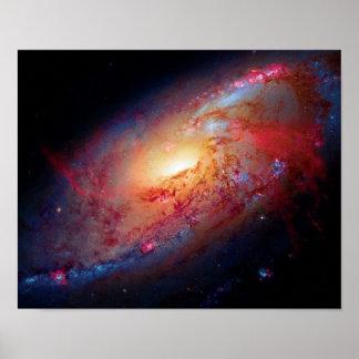 Unordentlicheres Weltraum-Foto der gewundenen Poster